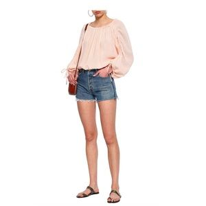 Joie Cropped Top Peach S